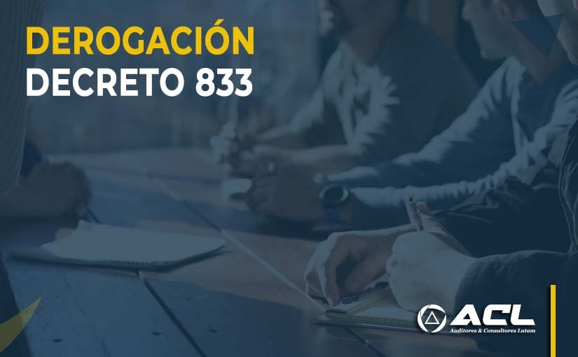 DEROGACION DE DECRETO 833 EN ECUADOR