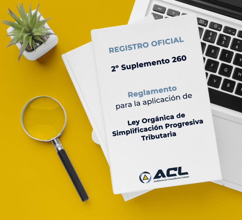 Registro Oficial – Segundo Suplemento 260 ECUADOR