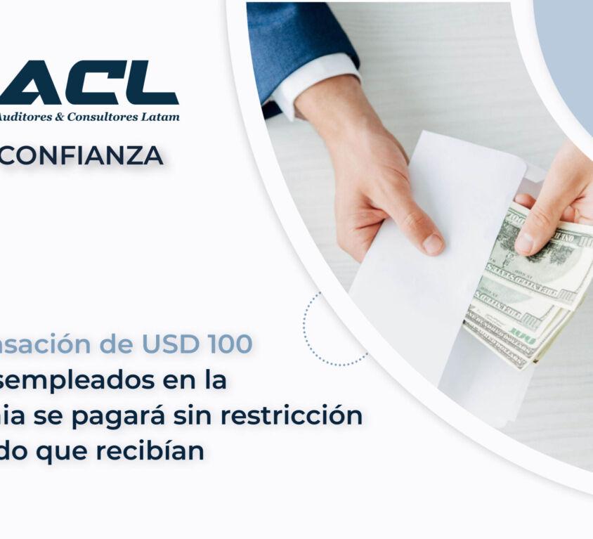 compensacion de 100 usd Ecuador