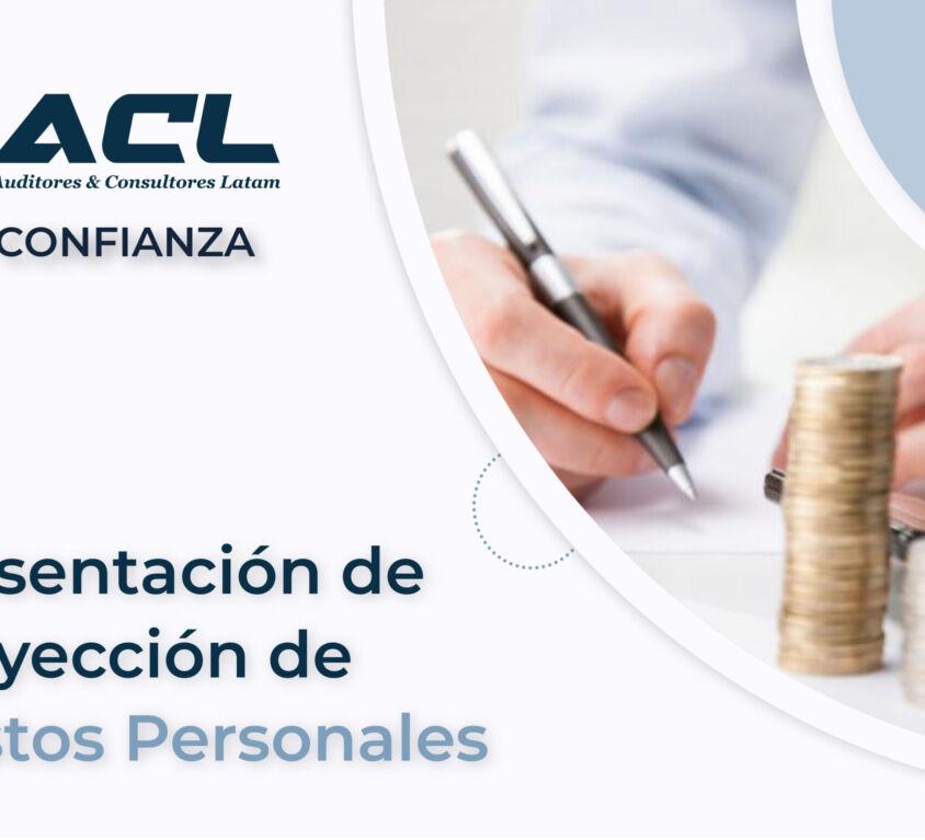 PRESENTACION DE PROYECCION DE GASTOS PERSONALES